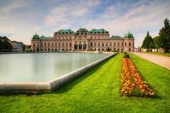 Belvédère Vienne de palais photo stock