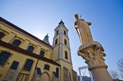 Belvarosi plebaniatemplom church in Budapest - Hungary Royalty Free Stock Photography