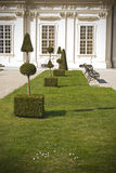 belveder庭院宫殿维也纳 库存照片
