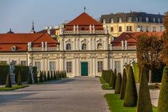 Belveder Castle with park-Belveder,Vienna, Austria Stock Photos