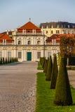 Belveder Castle with park-Belveder,Vienna, Austria Royalty Free Stock Photo