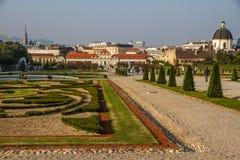 Belveder Castle with Royal park- Vienna, Austria Stock Photos