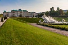Belveder Castle with Royal park-Vienna, Austria Stock Image