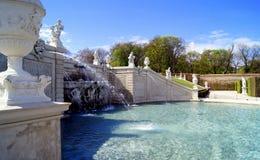 Belveder garden fountain. Vienna - fountain in Belvedere palace Stock Photo