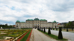 Belveder Museum. One of the most famous and distinctive sightseeings in Vienna.A hallmark of Austria Stock Photo