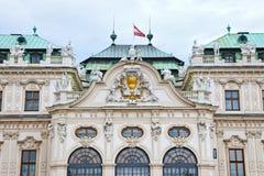 Belveder Palace. Beautiful sculptures on the facade of Belveder Palace, Vienna, Austria Stock Images