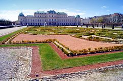 Belveder palace and garden. In spring morning light Stock Photography