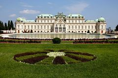 Belveder Palace Vienna Stock Photo