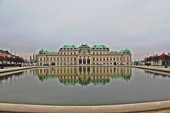 Belveder Wien Royaltyfria Bilder