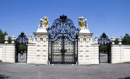 The Belvedere is a baroque palace complex built by Royalty Free Stock Photo