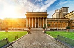 Belvedere Binnenplaats in Vatikaan stock fotografie