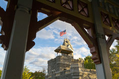 Belvedere castle between arches Stock Image