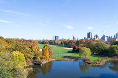 Belvedere Castle in Central Park contains the official weather s Stock Image