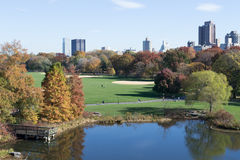 Belvedere Castle in Central Park contains the official weather s Stock Photos