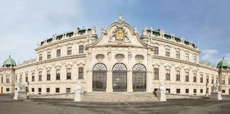 Belvedere castle with flag in Vienna Royalty Free Stock Image
