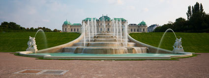 Belvedere castle fountain Royalty Free Stock Images