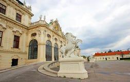 Belvedere Castle in Vienna. Austria . Beautiful picturesque Belvedere castle in Vienna. Austria Stock Images