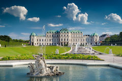 Belvedere Castle in Vienna Stock Photos