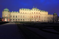 Belvedere chateau in Vienna Stock Image