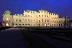 Belvedere chateau in Wenen stock afbeelding