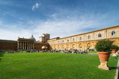 Belvedere Courtyard, Vatican Museum in Rome Royalty Free Stock Photo