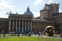 Belvedere courtyard in the Vatican Museums. VATICAN CITY, ROME, ITALY - CIRCA SEPTEMBER 2014 - The lodge in the Belvedere courtyard in the Vatican Museums royalty free stock images