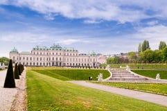 Belvedere de Viena Imagen de archivo libre de regalías