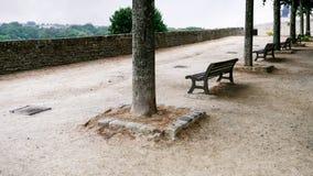 belvedere del Jardin Anglais nella città di Dinan fotografia stock