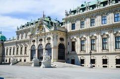 Belvedere del palacio de verano en Viena fotografía de archivo libre de regalías