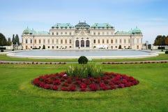 Belvedere del palacio de verano en Viena, Austria Fotos de archivo