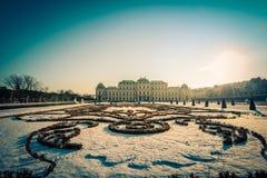 Belvedere del palacio en Viena Imagen de archivo libre de regalías