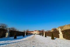 Belvedere del palacio en Viena Imágenes de archivo libres de regalías