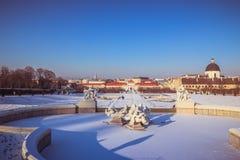 Belvedere del palacio en Viena Foto de archivo
