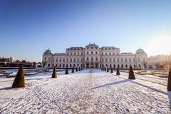 Belvedere del palacio en Viena Foto de archivo libre de regalías