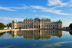 Belvedere del palazzo a Vienna Fotografia Stock Libera da Diritti