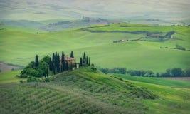 Belvedere di Podere, Toscana, Italia fotografia stock libera da diritti
