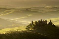 Belvedere di Podeve, d'Orcia di Val, Toscana Fotografie Stock Libere da Diritti
