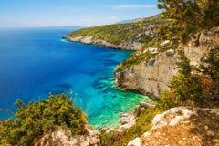 Belvedere di Skinari sull'isola di Zacinto Fotografia Stock Libera da Diritti