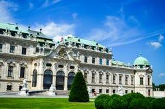 Belvedere do palácio de verão em Viena fotografia de stock royalty free