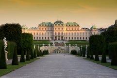 Belvedere em Viena, Áustria foto de stock