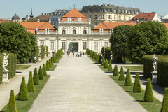 Belvedere em Viena, Áustria Fotografia de Stock Royalty Free