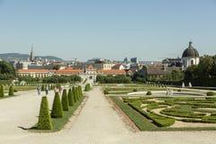 Belvedere em Viena, Áustria Imagem de Stock