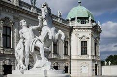 Belvedere em Viena fotografia de stock