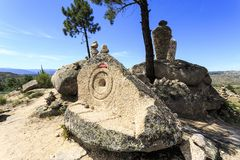 """Belvedere, esculturas e culto do †de Sortelha """" imagem de stock"""