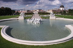 Belvedere fountain Stock Image