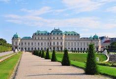 Belvedere garden. And palace, Vienna, Austria Stock Photo