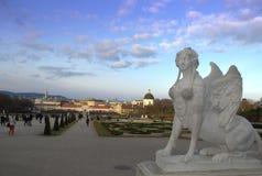 Belvedere garden sphinx statue Vienna Stock Photo