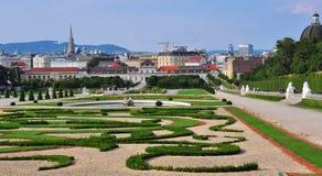 Belvedere garden. In Vienna, Austria Royalty Free Stock Images