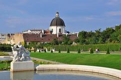 Belvedere garden. In Vienna, Austria Stock Images