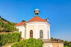 Belvedere i en vingård arkivbilder